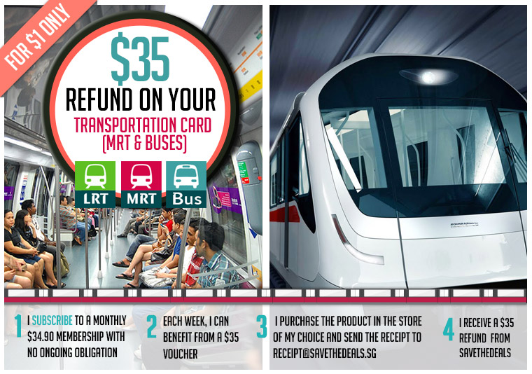 A $35 Refund on Your Transportation Card (MRT and Buses)