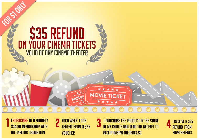 A $35 Refund on Your Cinema Tickets Valid at the Cinema Theater of Your Choice